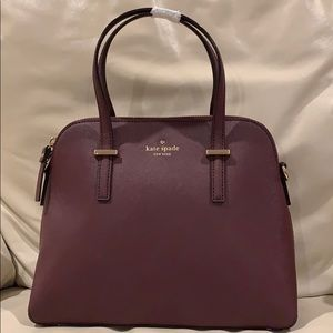 NWT Kate Spade cedar street maise in mulled wine